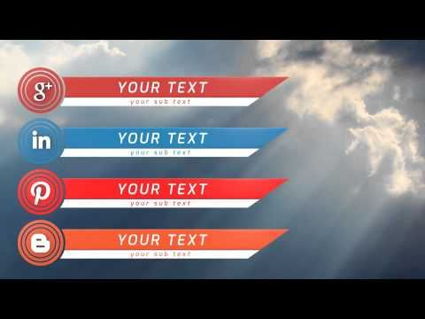 Social media lower thirds after effects template after effects social media lower thirds after effects template lower thirds after effects templates maxwellsz
