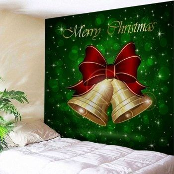 Christmas Bell Leaf Pattern Wall Tapestry Hanging decorations