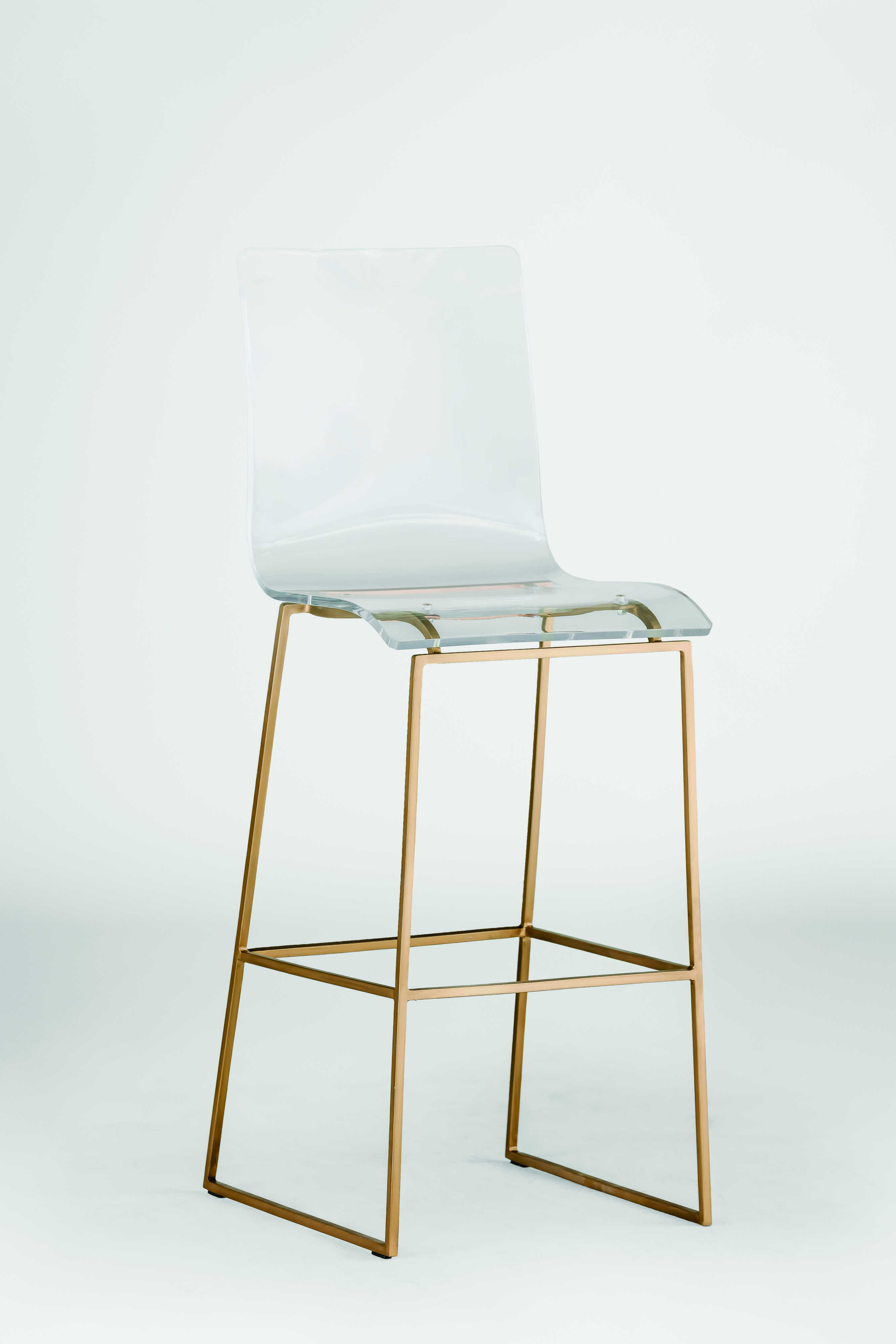 Gabby King Antique Gold Amp Clear Acrylic Bar Stool Home