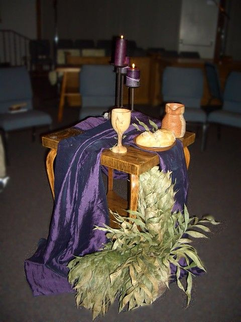 Ash Wednesday 2009 | Church altar decorations, Lent ...