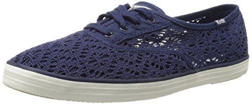 2632df604 Plimsoll Shoe · Trainers · Keds Women s Champion Crochet Fashion Sneaker