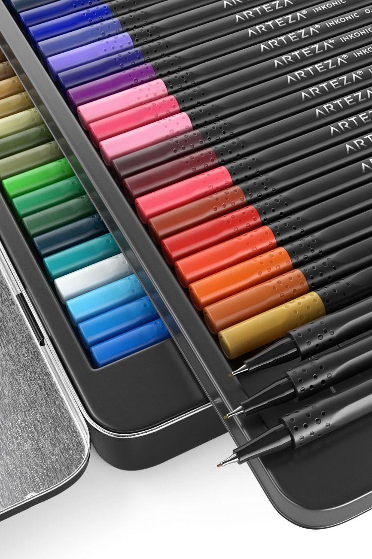 New Inkonic Fineliner Pens In 2020 Arteza Fineliner Pens Fine Point Pens