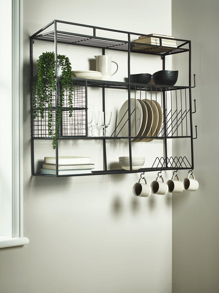 New Industrial Style Iron Wall Unit Kitchen Wall Storage