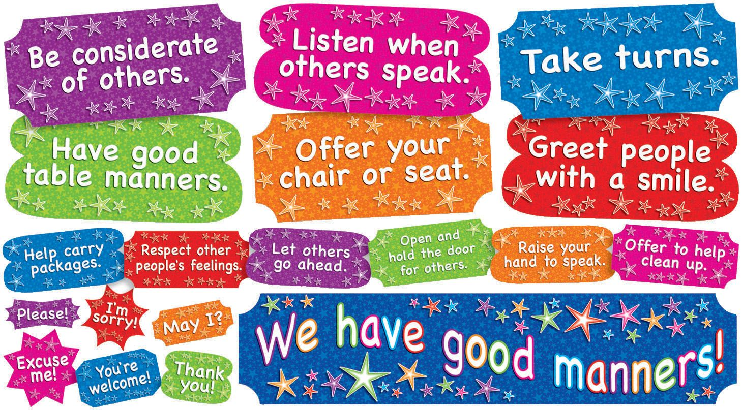 We Have Good Manners Mini Bulletin Board Set