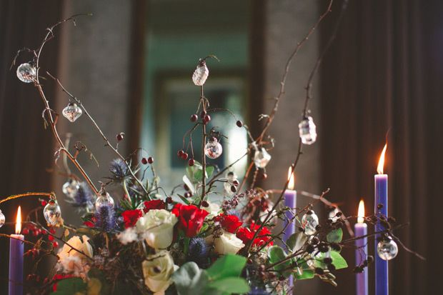 Rich Hues Of Red & Blue: Christmas Wedding Inspiration