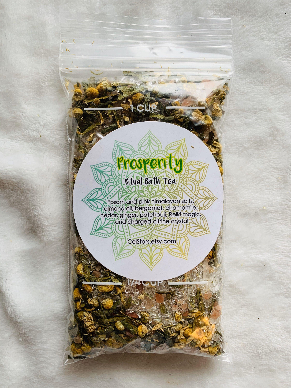 Prosperity Ritual Bath Tea Bath Salts Magick Magic Reiki Etsy In 2021 Ritual Bath Spiritual Bath Bath Tea