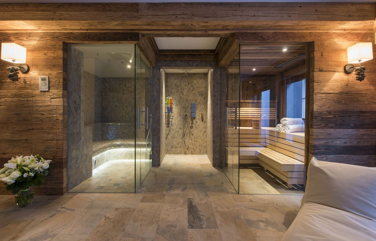 Sauna And Hammam In The Spa Area At Chalet Weiss Spa In Kitzbühel