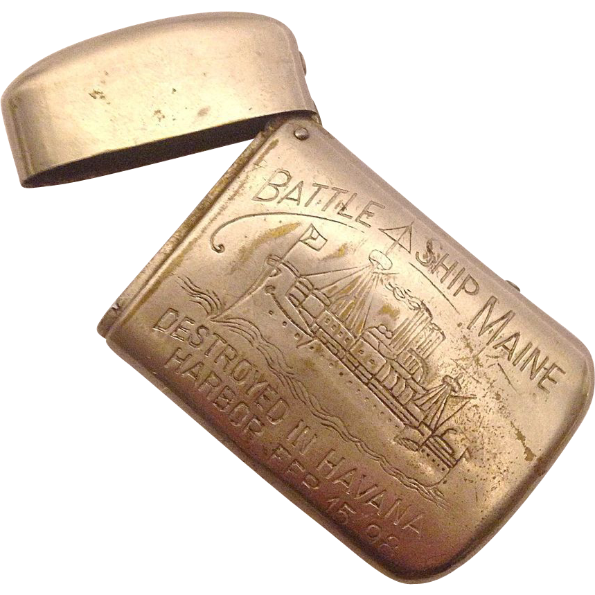 Battleship Maine Match Case