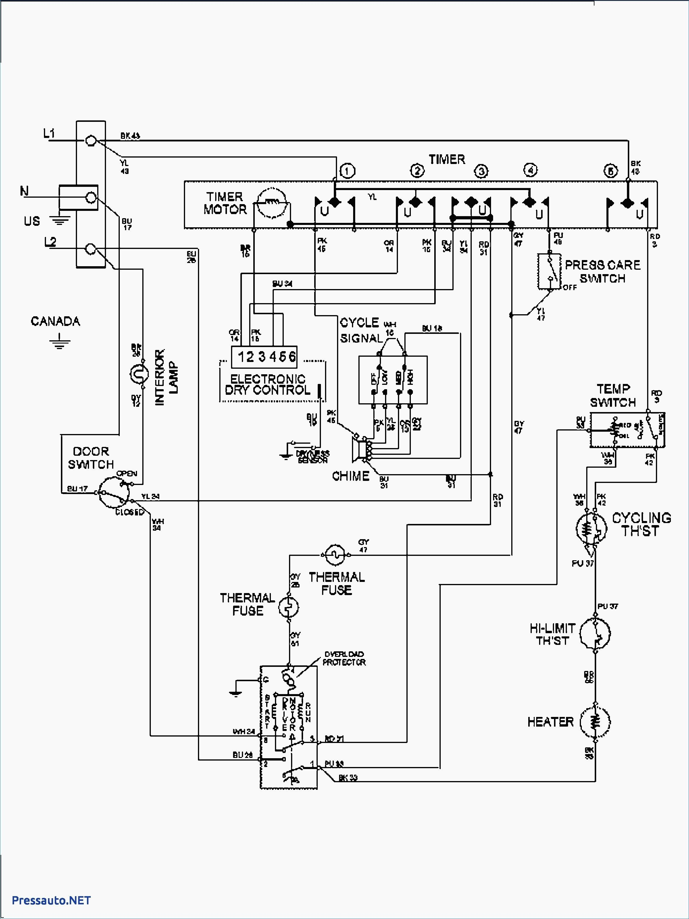 Dryer Door Switch Wiring Diagram