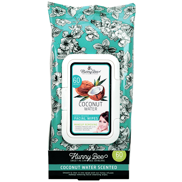 Hunny Bee Coconut Water Makeup Removing Wipes Makeup