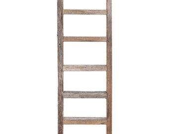 5 Foot Rustic Reclaimed Barn Wood Decorative Ladder Old Wooden Ladders Wooden Ladder Barn Wood Decor