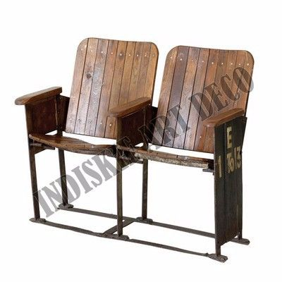 Sedie Da Cinema Vintage.Vecchio Cinema Banco Vintage Industriale Panchine Da Giardino