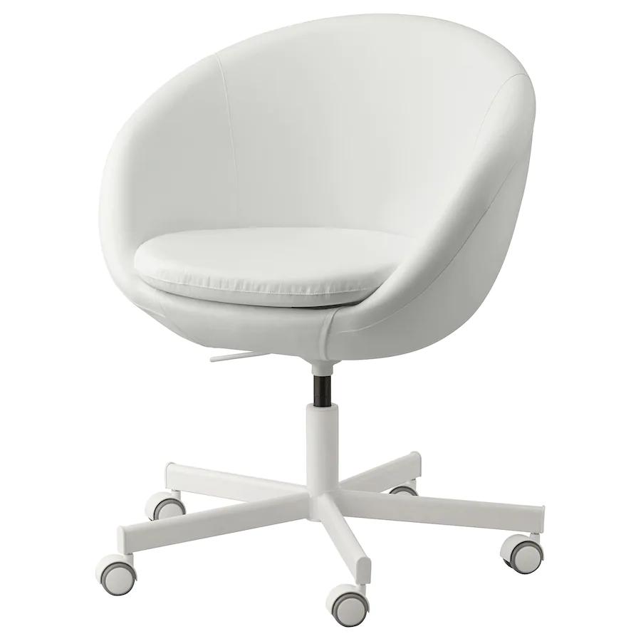 SKRUVSTA Swivel chair, Ysane white IKEA in 2020 Ikea