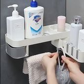 Photo of Corner Bathroom Shelf‼ Perforation-free rotating frame, ♦ to any …