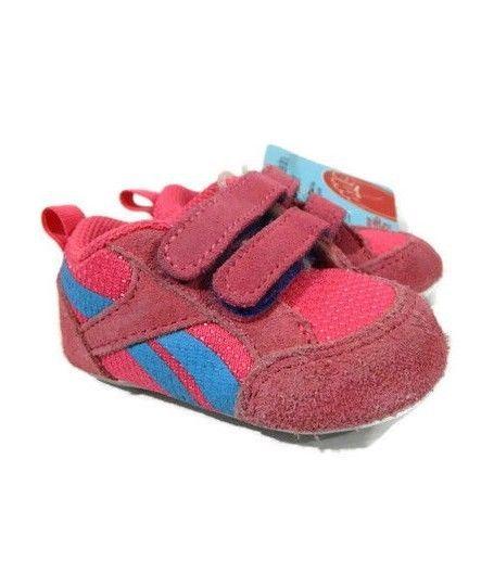 4fc31782253 Reebok Classic Baby Girls Shoe 1 Pink Suede Ventureflex Walker Infant New   Reebok  WalkingShoes