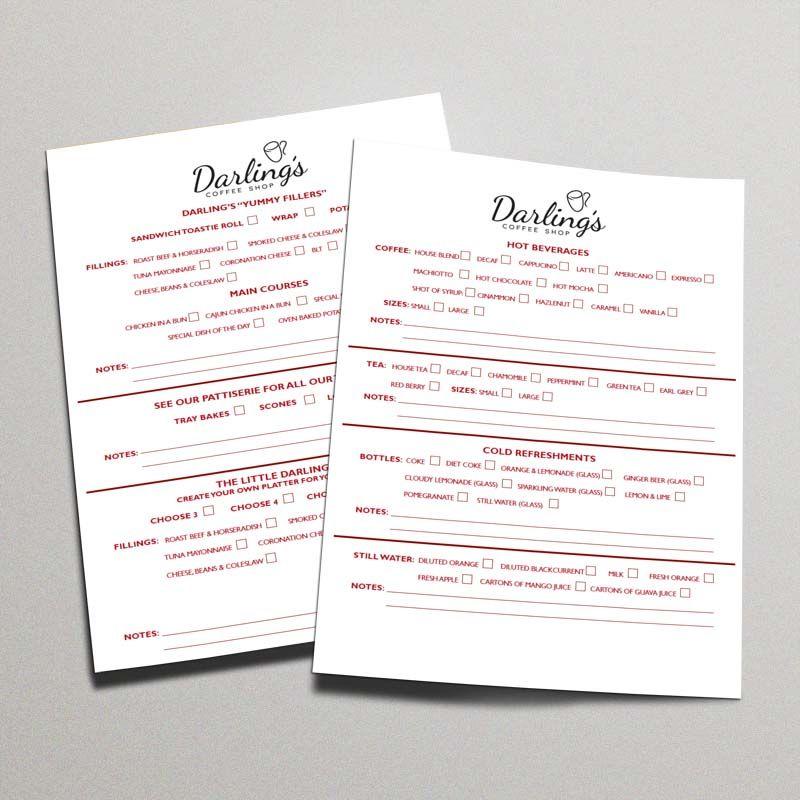 DarlingS Menu  A Menu List Design For DarlingS Coffee Shop