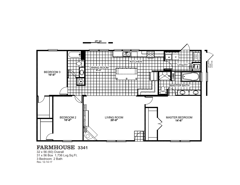 Farmhouse 3341 Oak Creek Homes Oak Creek Homes Floor Plans Oak Creek