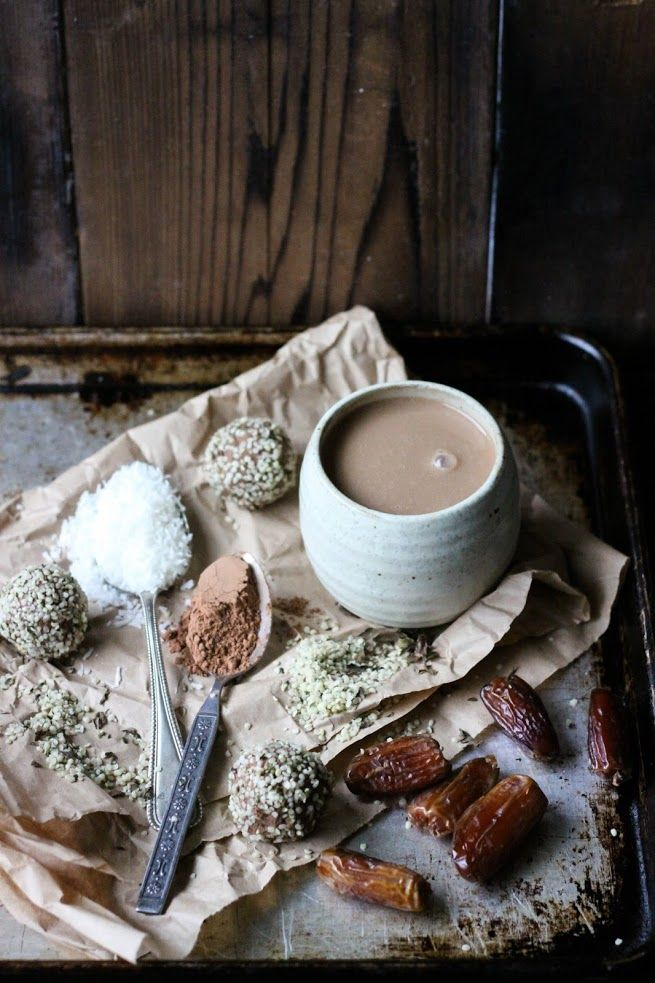 Hot Cacao With Cinnamon Coconut Dates Raw Food Recipes