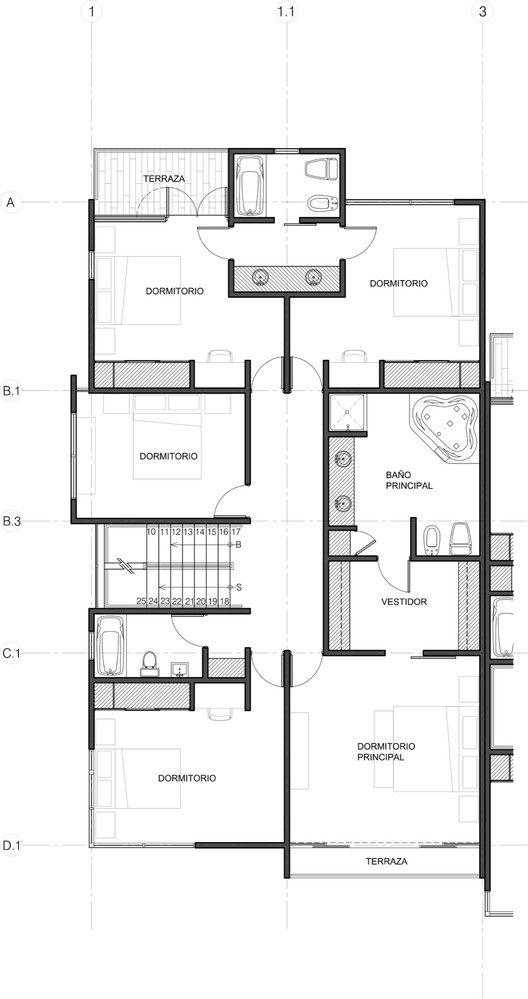 Galería de Casa La Rioja   STUDIO + - 21 Pavimento, Plantas y Planos