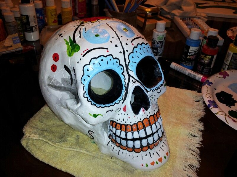 Michaels had these great skulls in plaster, only $12 99, and