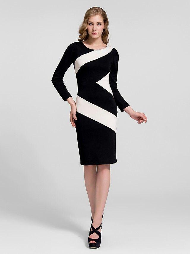 Vestidos blanco y negro baratos