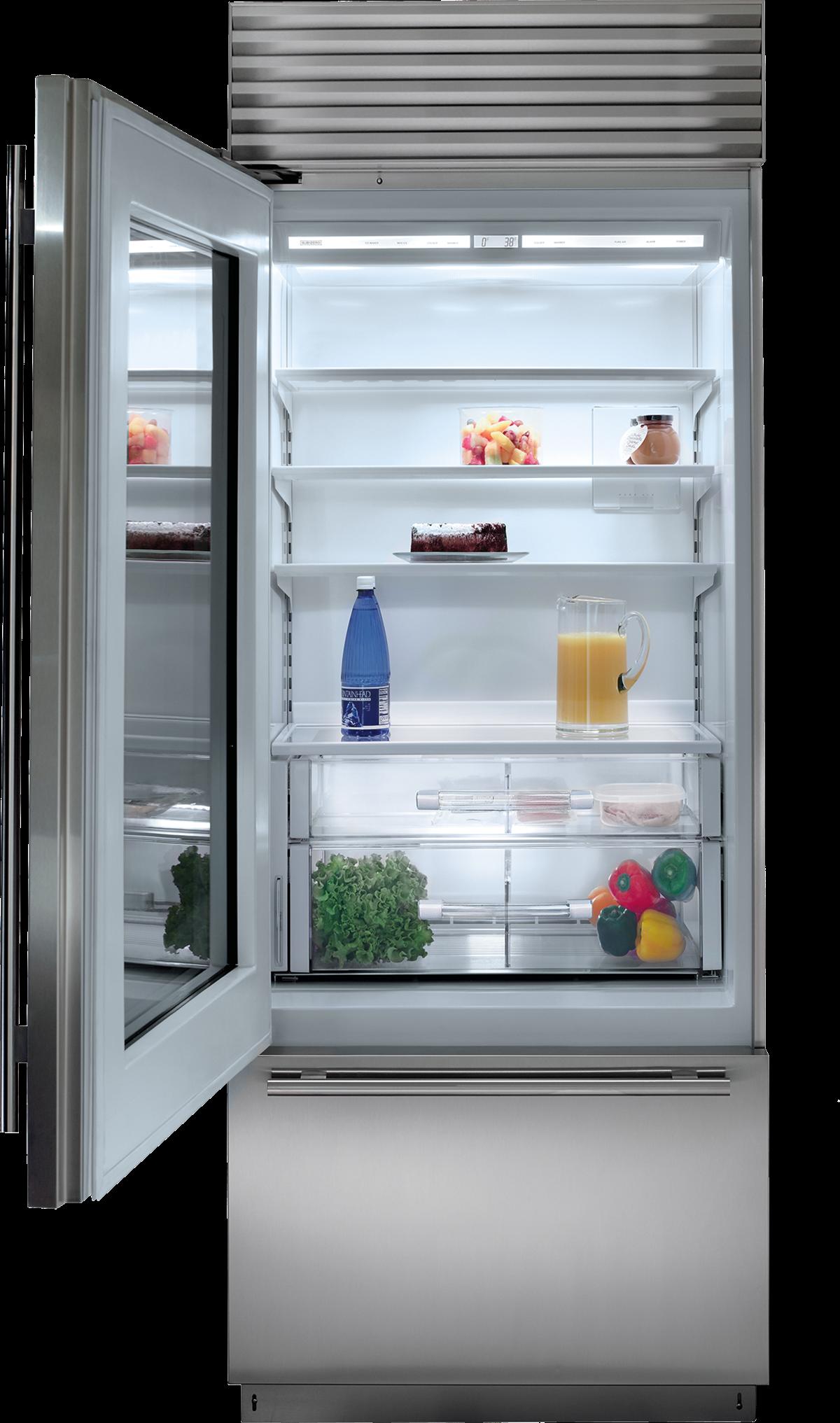 Sub Zero 30 Classic Over And Under Refrigerator Freezer With Glass Door Panel Ready Bi 30ug O Refrigerator Freezer Glass Door Refrigerator Glass Door Fridge