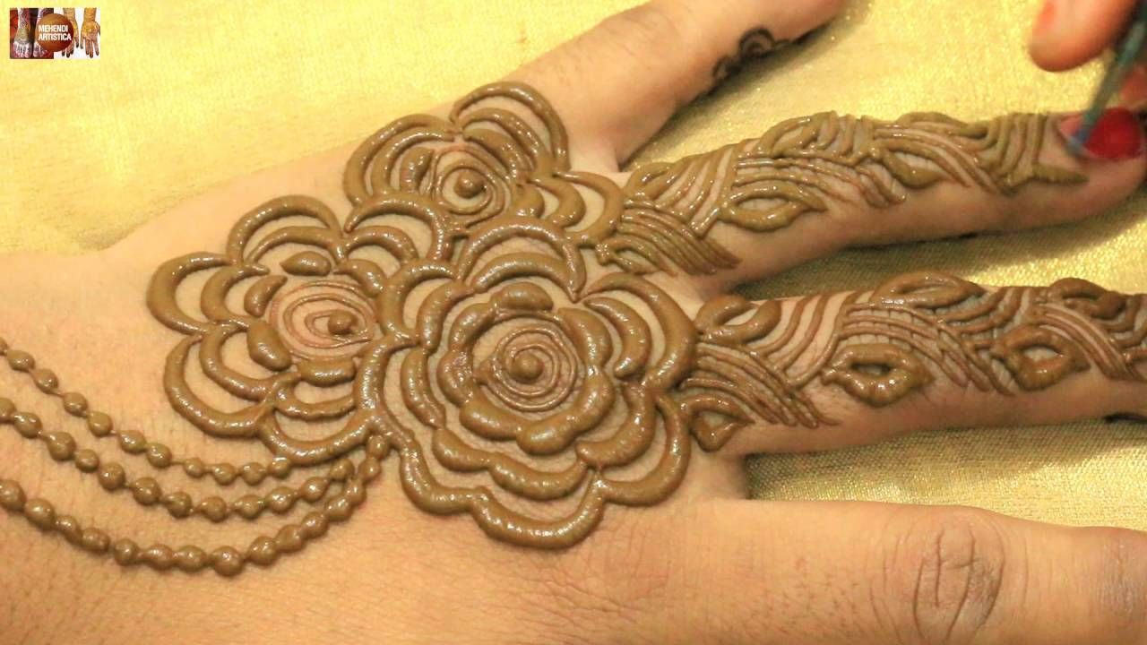 7603226fb Stylist Mehndi Hinna Designs For Upper Hands:Beautiful Gulf Khafif Mehen.