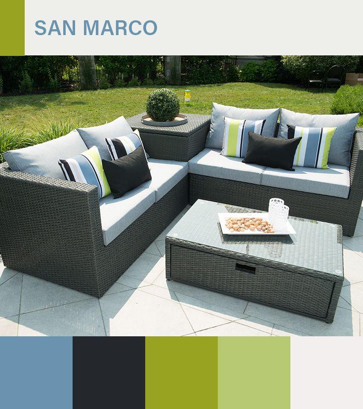 Sectionnel San Marco - Il est fait d\'aluminium, de rotin synthétique ...