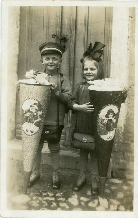 """Vintage Photo Postcard """"First Day of School"""", Photography ... First Photograph Date"""