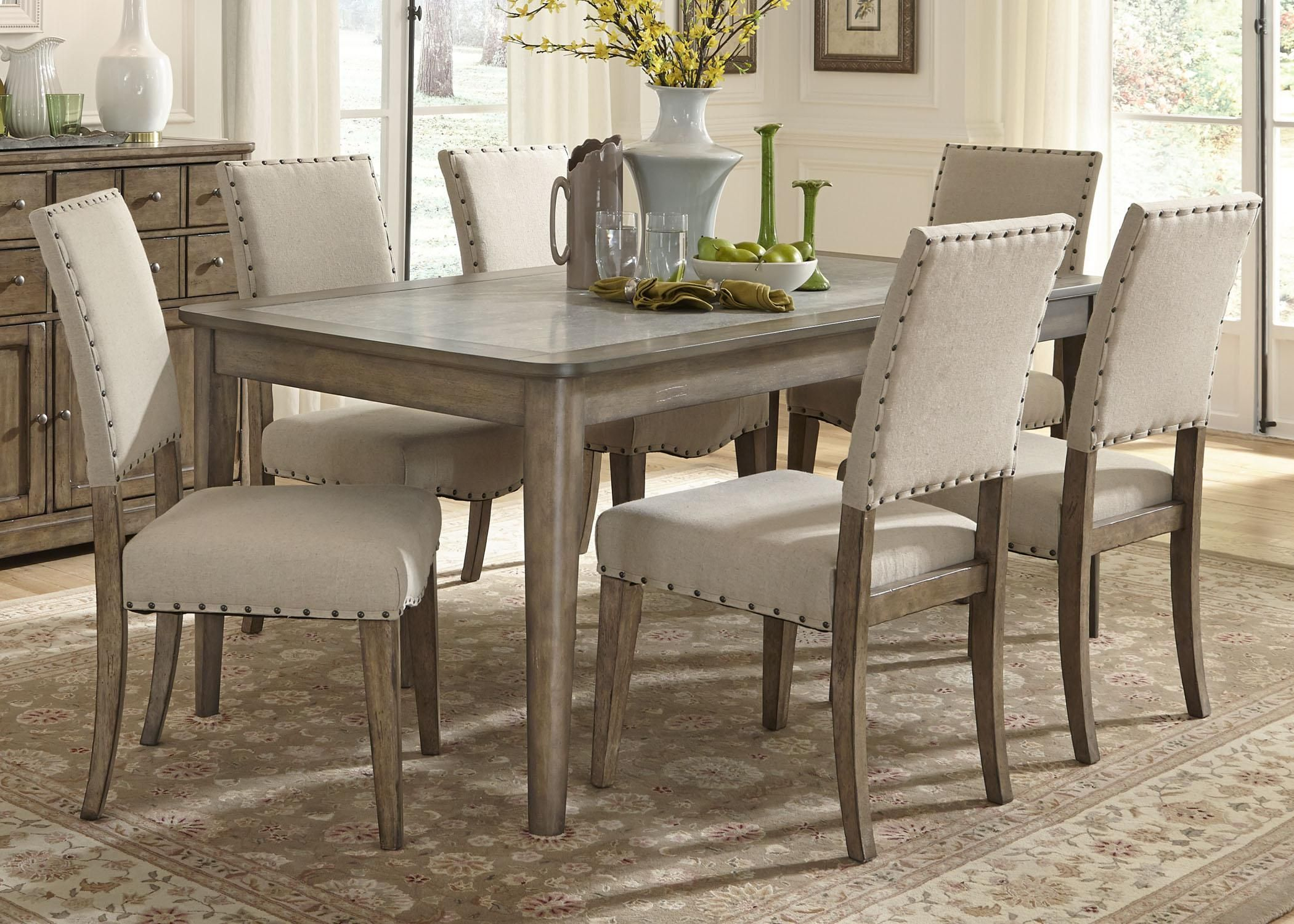 Weatherford 7 Piece Dining Table And Chairs Set By Liberty Furniture