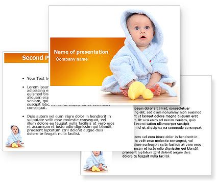 little baby powerpoint template with little baby powerpoint, Modern powerpoint