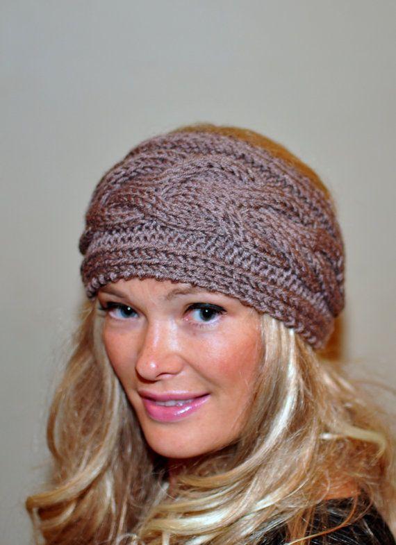 Earwarmer Cabled Ear Warmer Winter Crochet Headband Chunky Ear ... 5d91a94bbda
