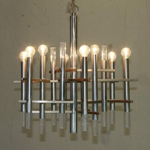 Italian chandelier by gaetano sciolari 1970s italian chandelier this nine light chandelier was designed by gaetano sciolari and produced in italy during the 1970s aloadofball Choice Image