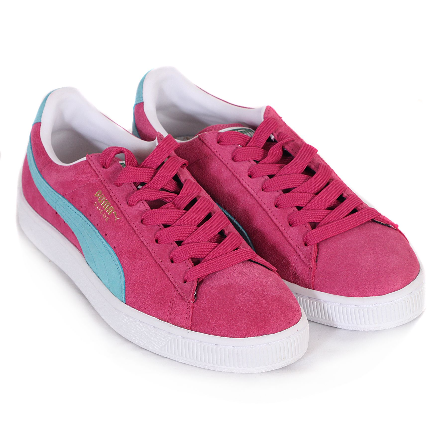 f8e5a8d7eb0e Puma Suede Classics Pink Blue