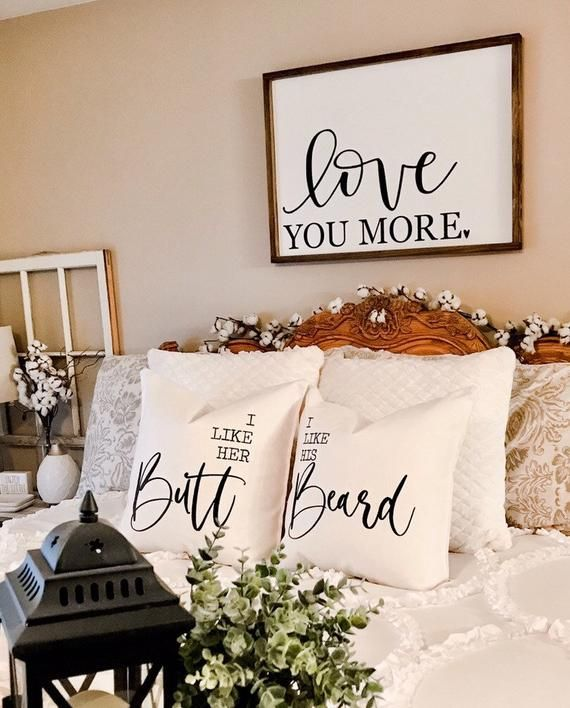 I Like His Beard Pillow Cover, Farmhouse Decor, Neutral, Pillow, Bedroom Decor, Pillow, Funny Pillow