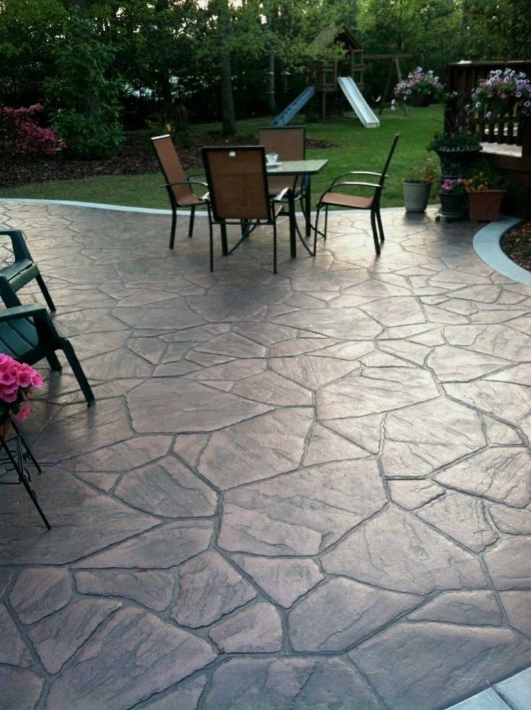 24 Home Depot Patio Style Challenge Reveal Homedepotpatio Homedepotpatiodesign Homedepotpatioideas Stone Patio Designs Concrete Patio Designs Patio Stones