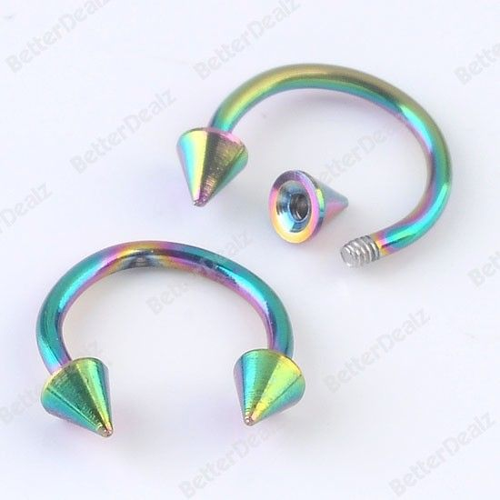 1 x Purple CBB Horseshoe Eye Lip Body Titanium Anod Eyebrow Ring Hoop 14g 11mm