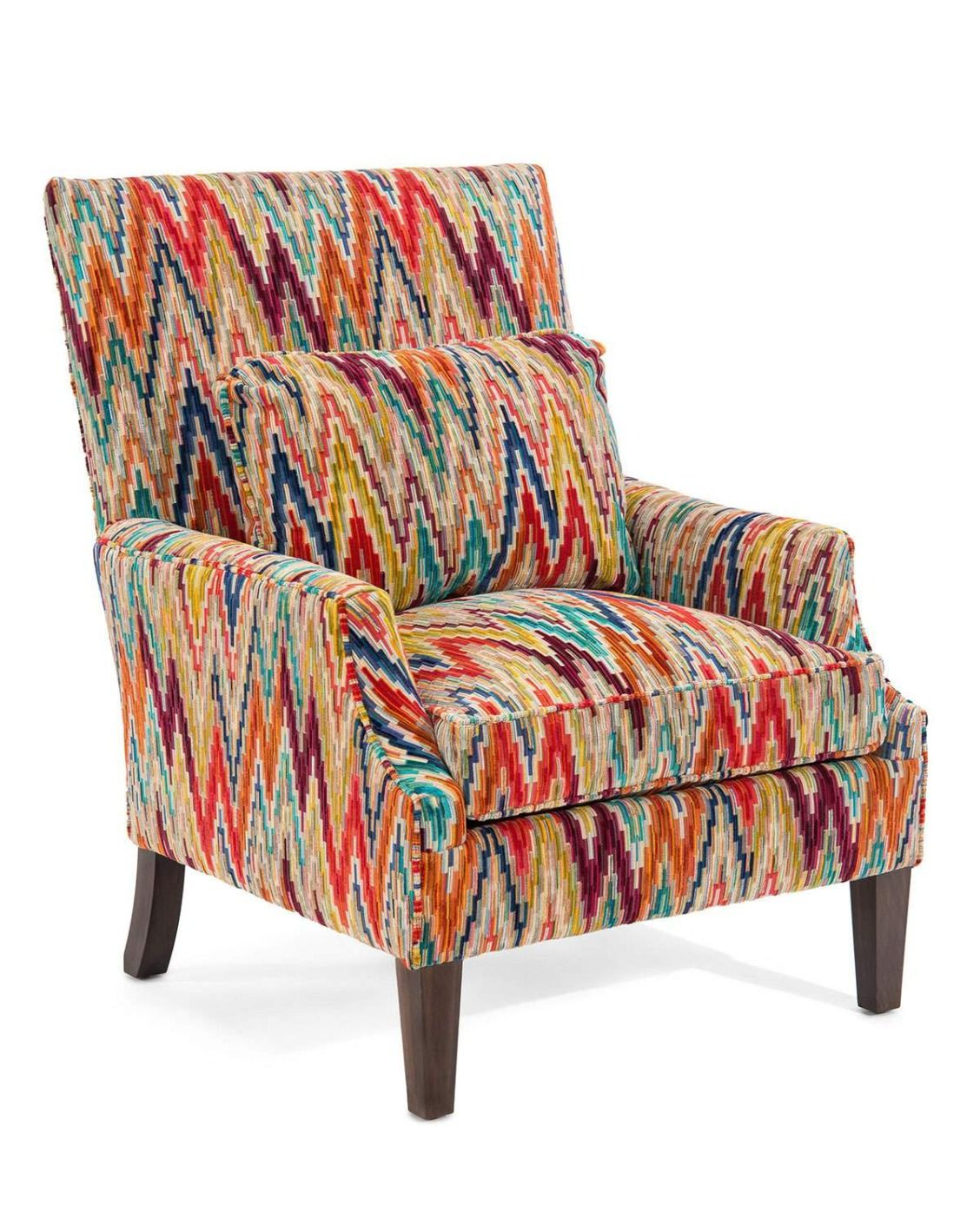 Colorful Accent Chair Leather Barrel Chairs John Richard Collection Cameron Club Trending Pops Of Color