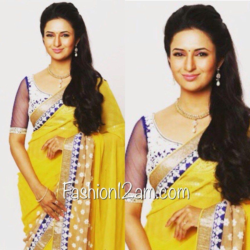 5556f8e9c3c55f Divyanka Tripathi Blouse designs - Yeh Hai Mohabbatein | blouse