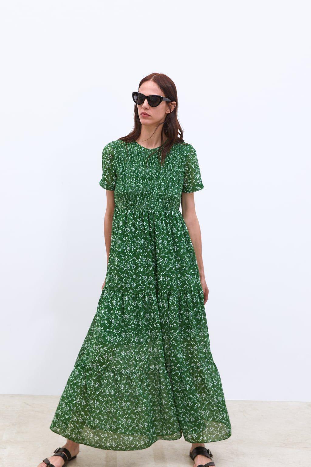 floral print dress - new in-woman | zara united kingdom