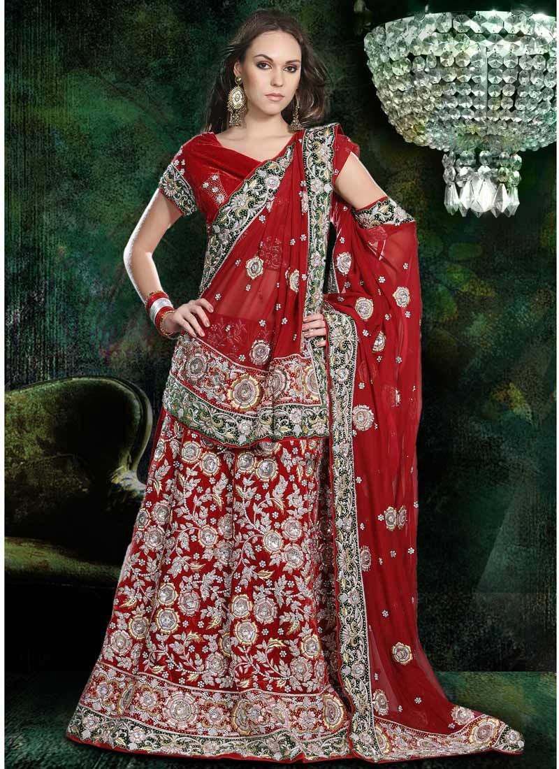 South asian wedding dresses  Special Wedding Wear Red Bridal Saree  Bridal Sareesamazon