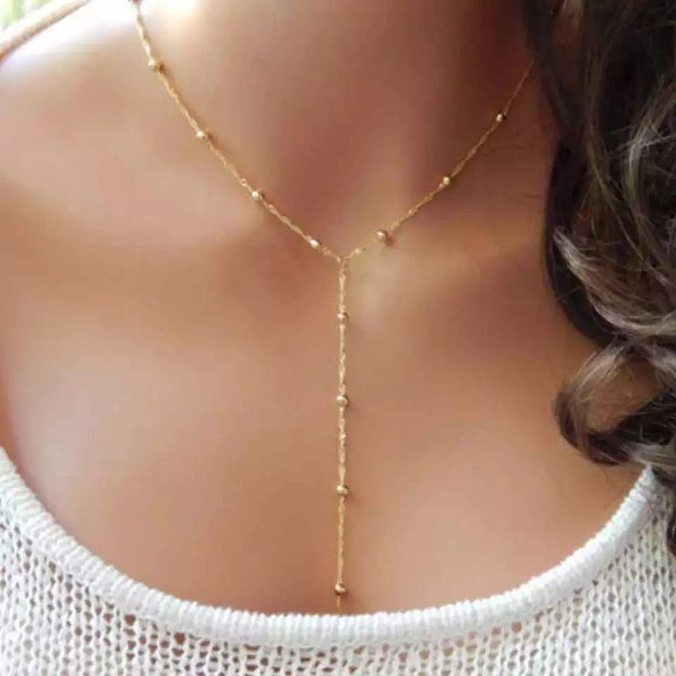 Collar Colgante con esfera de oro señoras Bijoux