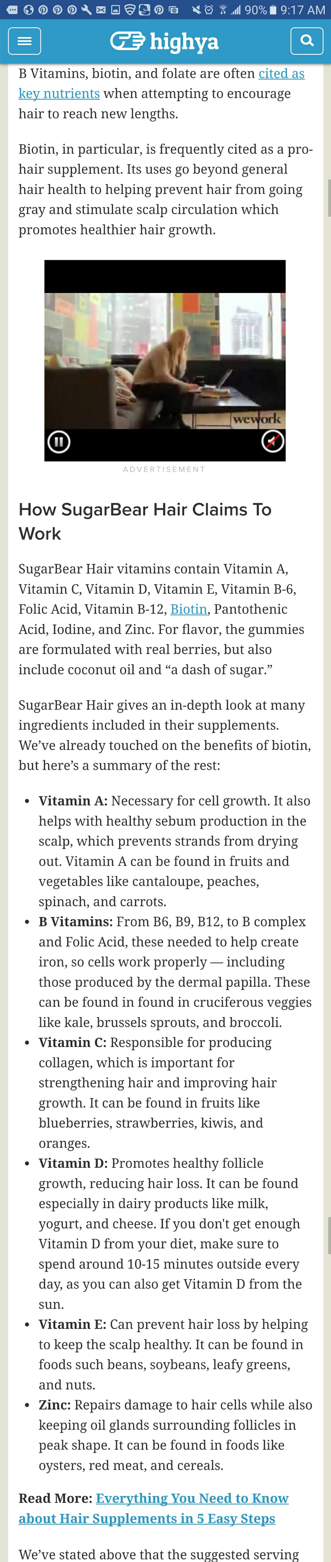 Key nutrients for healthy hair