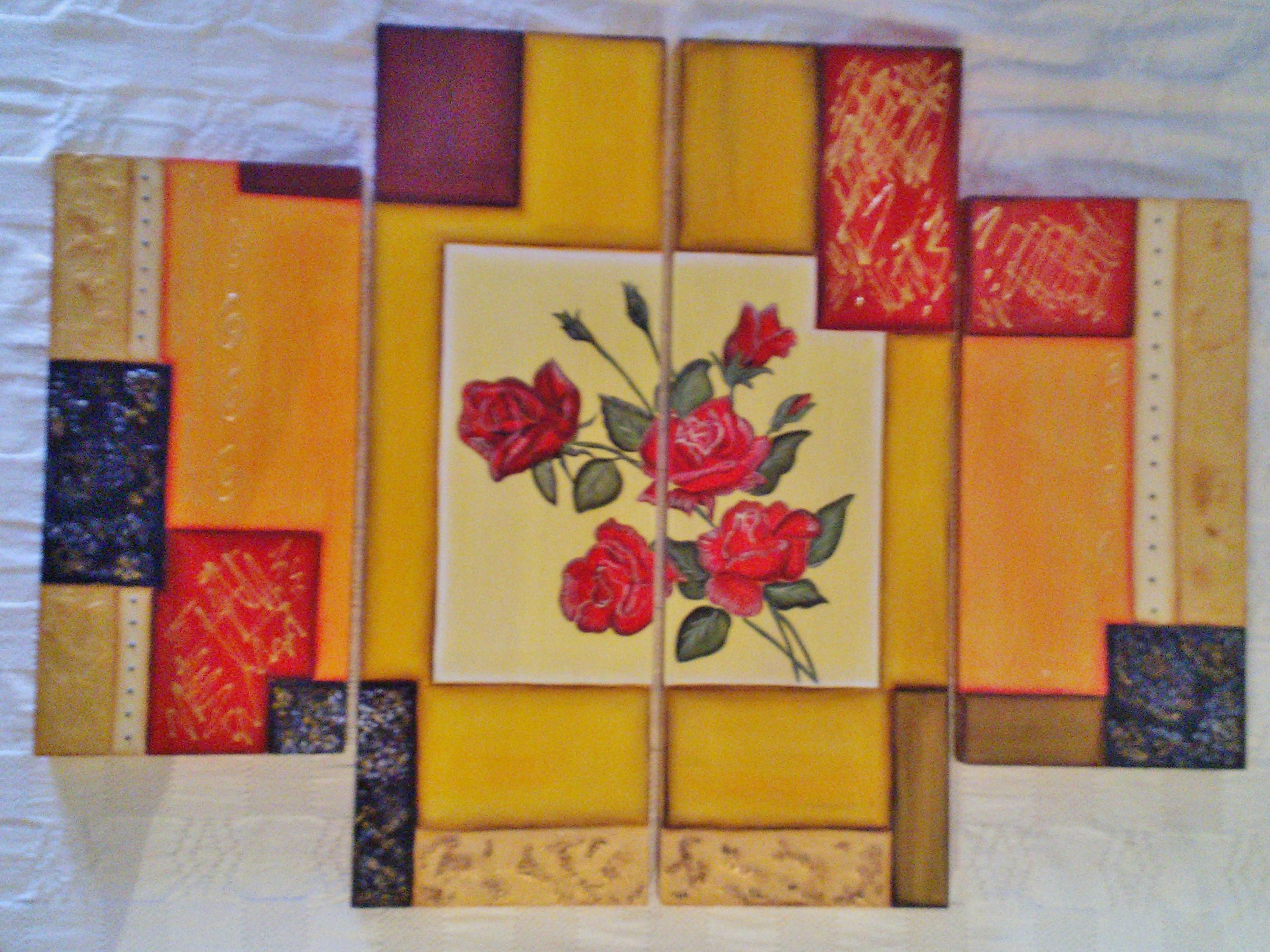 Cuadro en MDF con marco de madera de 1 x 1 cm. Medidas: 2 de 20 x 40 ...
