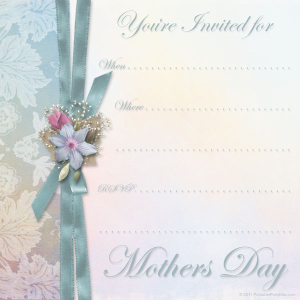 Mothers Day Tea Invitation Template Free Mothers Day Brunch - lunch invitation templates