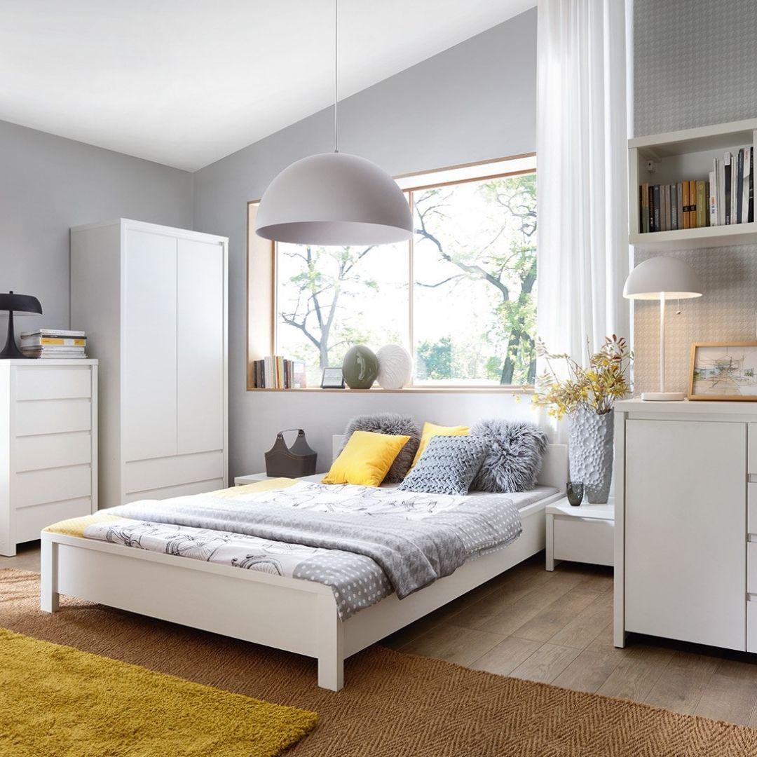 łóżko 160 Kaspian Biały Aranżacje Wnętrz I Meble W