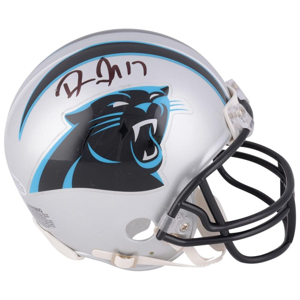 reputable site 12e1d ba8cf Devin Funchess Carolina Panthers Autographed Mini Helmet BAS ...