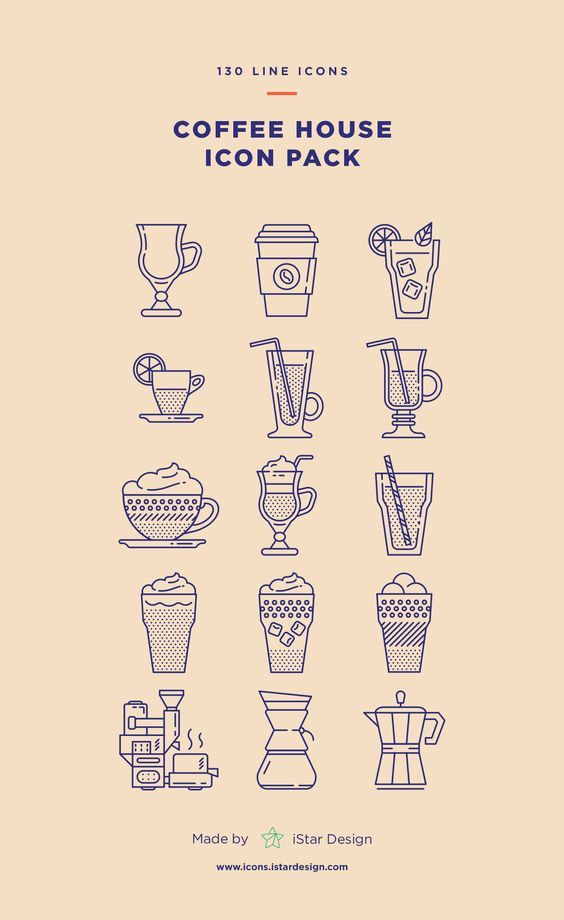 Coffee House Icons Set (With images) Line icon, Icon set