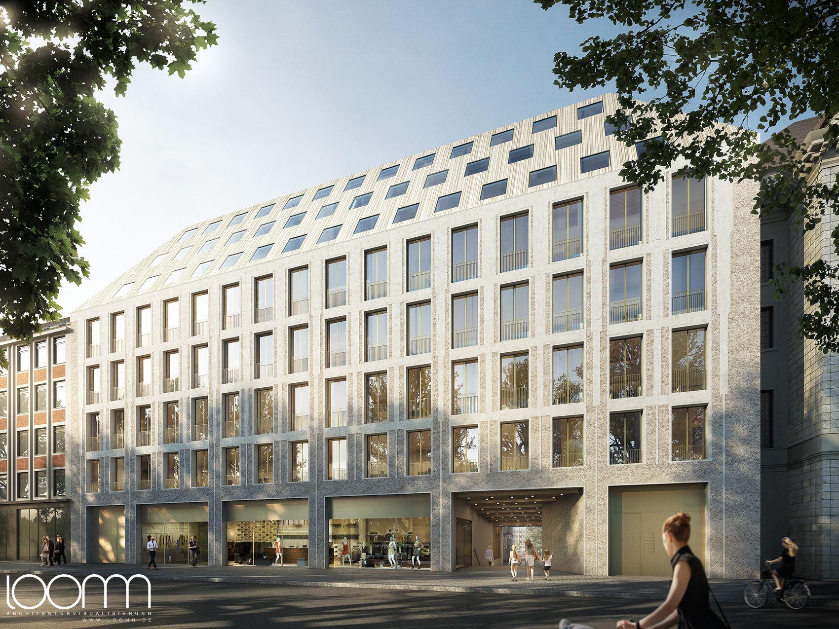 Architekturbüro Bremen 3d architektur illustration loomn für einen wettbewerb dbco