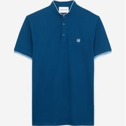 Photo of The kooples – blue insignia slim fit polo with buttons – Damenthekooples.com